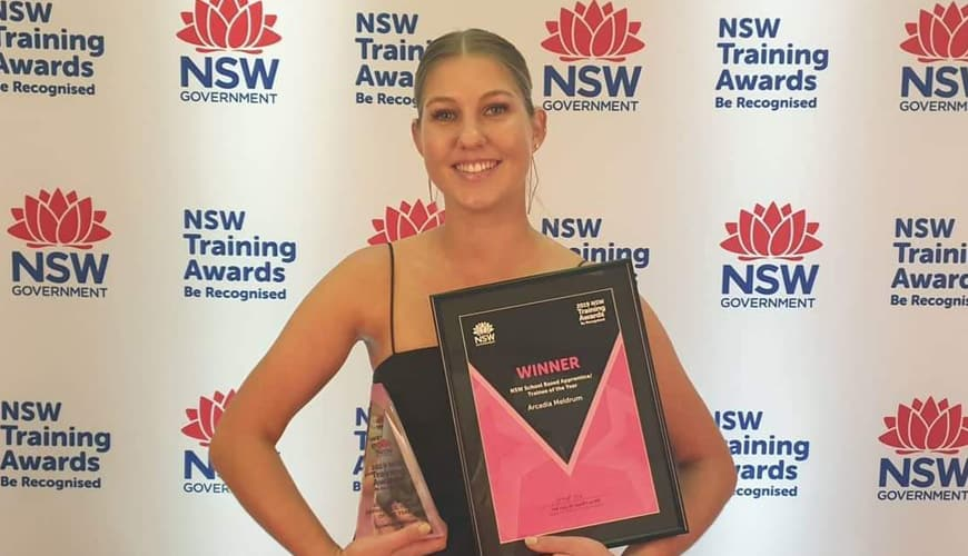 Congratulations Arcadia Meldrum, State Training Award Winner
