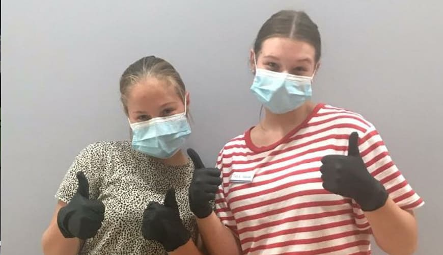 Newman's own front-line health care workers
